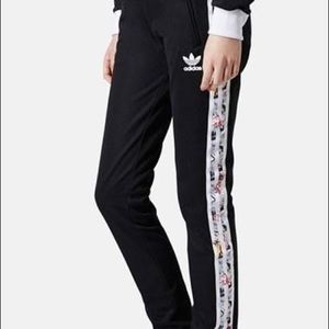 Adidas x Topshop black track pants S